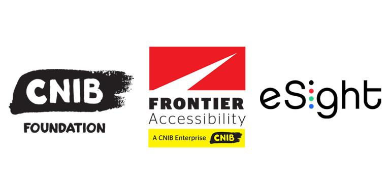 CNIB Foundation, Frontier Accessibility, and eSight logos.